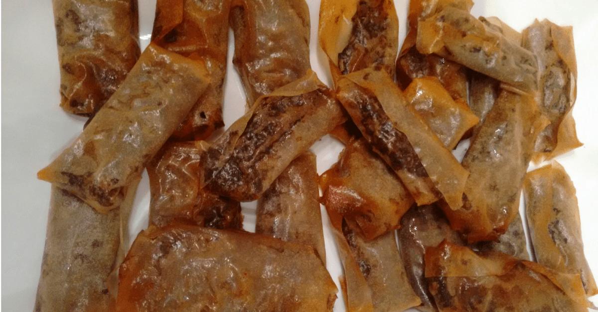Rollitos crujientes de morcilla y manzana